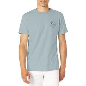 Billabong Men's Short Sleeve Premium Logo Graphic T-Shirt, Denim Heather, X-Large for $19