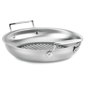 Factory Seconds All-Clad Round Basket Grilling Pan for $20