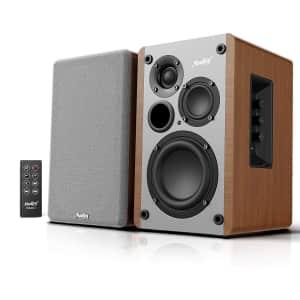 Moukey Bluetooth Bookshelf Speaker Pair for $74