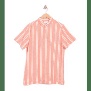 Onia Men's Josh Linen Blend Stripe Polo for $20