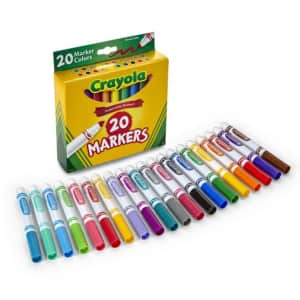 Crayola Broad Line Classic Markers 20-Pack for $5
