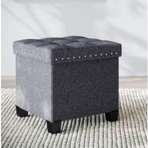 Nathan James Payton Foldable Cube Storage Ottoman for $35