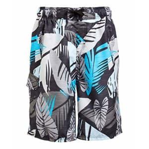 Kanu Surf Men's Legacy Swim Trunks (Regular & Extended Sizes), Montego Black, Large for $19