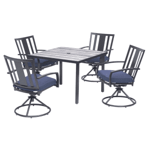 Living Accents Waterville 5-Piece Steel Dining Set for $500