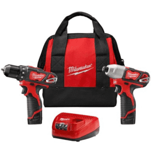 Milwaukee M12 12V Cordless Drill and Impact Driver Kit for $129