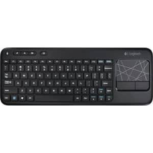 Logitech K400 Wireless Touchpad Keyboard for $20