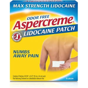 Aspercreme Max Strength Lidocaine Pain Relief Patch 5-Pack for $8.53 w/ Sub & Save