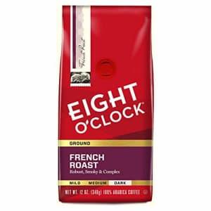 Eight O'Clock Coffee French Roast, Dark Roast, Ground Coffee, 12 Ounce (Pack of 6), 100% Arabica, for $11