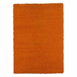 "Ottomanson Collection shag area rug, 3'3"" x 4'7"", Orange for $53"