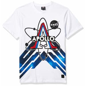 Southpole Men's Big and Tall NASA Collection Fashion Tee Shirt (Short & Long Sleeve), White Apollo for $15