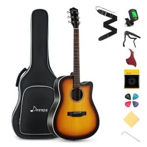 Donner Acoustic Guitar Starter Kit for $91