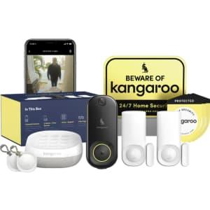 Kangaroo Front Door Security Kit w/ 1-Year Sub. for $99