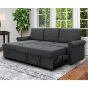Abbyson Living Hamilton Reversible Storage Sectional Sofa w/ Pullout Bed for $649 for members
