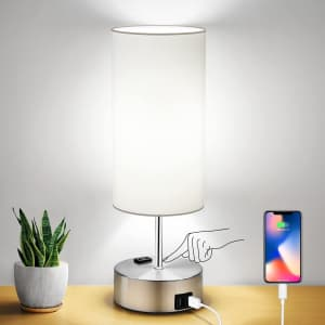 Costube Touch Control LED Table Lamp for $15