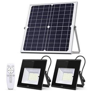 SunBonar Dual Head Solar Flood Lights for $100