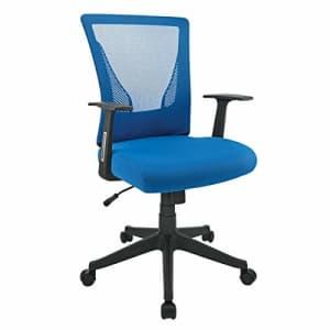 Brenton Studio Radley Mesh Low-Back Task Chair, Blue/Black for $77