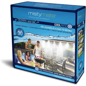 MistyMate Cool Patio 30 Outdoor Misting Kit for $33