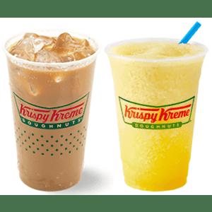 Krispy Kreme Small Lemonade Chiller or Small Iced Coffee: for free
