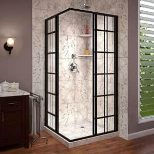 DreamLine French Corner Framed Sliding Shower Enclosure for $670
