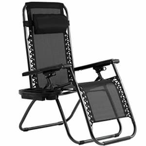 FDW Zero Gravity Chair Patio Chairs Lounge Patio Chaise 1 Pack Adjustable Reliners for Pool Yard with for $45