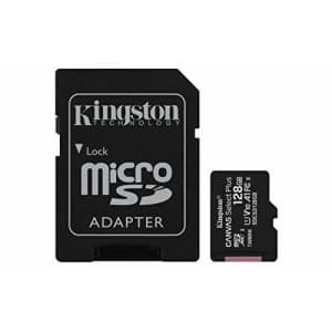 Kingston 128GB microSDHC Canvas Select Plus 100MB/s Read A1 Class 10 UHS-I Memory Card + Adapter for $16