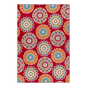 Sonoma Goods for Life 5x7-Foot Floral Medallion Indoor / Outdoor Rug for $40