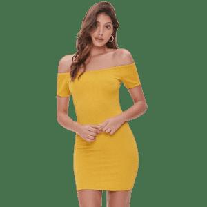 Forever 21 Women's Off-the-Shoulder Mini Dress for $11