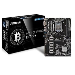 ASRock H110 Pro BTC+ 13GPU Mining Motherboard Cryptocurrency for $480