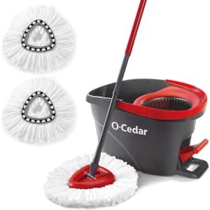 O-Cedar EasyWring Spin Mop & Bucket w/ 2 Refills for $39