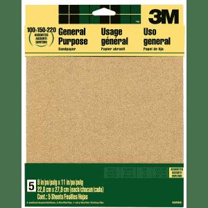 3M Aluminum Oxide Sandpaper for $2
