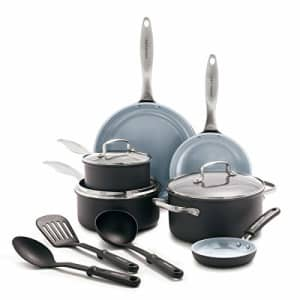 GreenLife Classic Pro Healthy Ceramic Nonstick, Cookware Pots and Pans Set, 12 Piece, Dark Gray for $180
