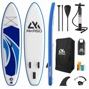 Akaso 10-ft. Inflatable Stand Up Paddle Board Kit for $180