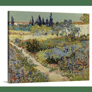 "GreatBigCanvas Vincent van Gogh ""Garden at Arles, 1888"" 30"" x 24"" Canvas Wall Art for $60"