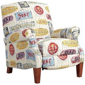 Teal Island Designs Sunshine Beach 3-Way Coastal Surf Style Recliner Chair for $460