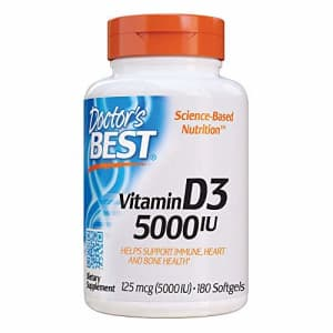 Doctor's Best Vitamin D3 5000IU, Non-GMO, Gluten Free, Soy Free, Regulates Immune Function, for $7