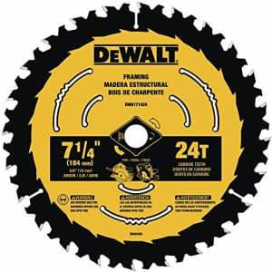 DEWALT DWA171424B10 7-1/4-Inch 24-Tooth Circular Saw Blade, 10-Pack for $10