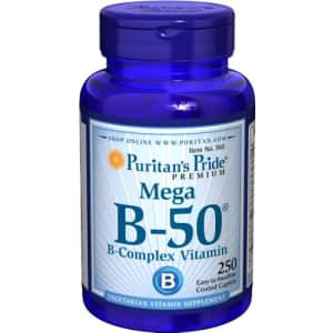 Puritan's Pride Vitamin B-50 Complex Supports Energy Metabolism, 250 Caplets, by Puritan's Pride, for $23