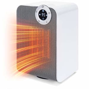 Best Choice Products 1500W Portable Compact Oscillating Desktop Space Heater for Home, Office for $30