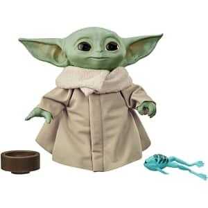 Star Wars The Mandalorian Baby Yoda Talking Plush for $30