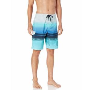O'NEILL Men's 21 Inch Outseam Ultrasuede Swim Boardshort, Cyan/Lennox, 36 for $34