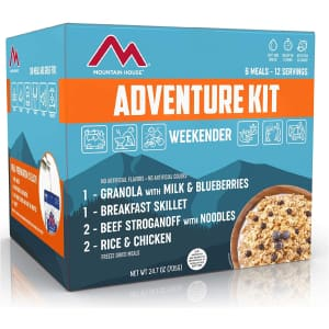 Mountain House Adventure Weekender Kit for $39