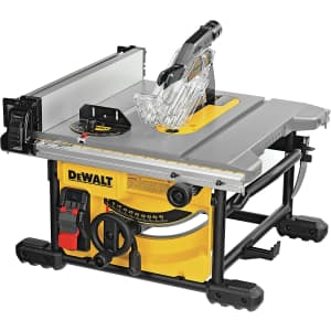"""DeWalt 8-1/4"""" 15A Compact Table Saw for $320 for members"""