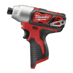 """Milwaukee M12 12V Cordless 1/4"""" Hex Impact Driver for $43"""