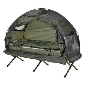 Outsunny Portable Camping Cot Tent for $120