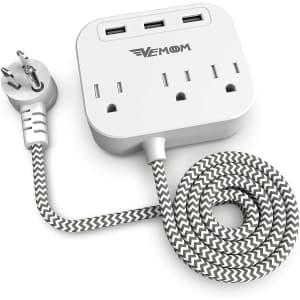 Vemoom 3-Outlet 3-USB Power Strip for $16