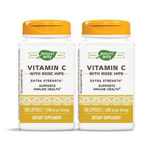 Nature's Way Vitamin C 1000 mg with Rose Hips, 1000 mg per Serving, 100 Capsules, Pack of 2 for $27
