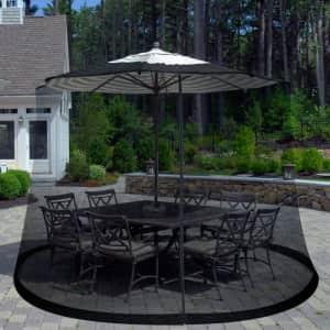 Pure Garden Outdoor Umbrella Screen for $23