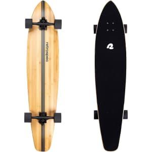 Retrospec Zed Longboard Pintail Bamboo Long Board Skateboard for $60