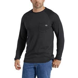 Dickies Men's Temp-iQ Performance Cooling Long Sleeve T-Shirt, Black, M for $23