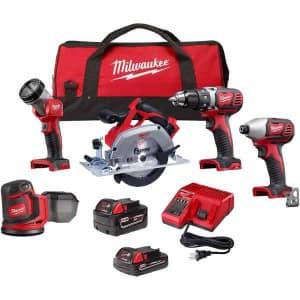 Milwaukee M18 18V Li-Ion 5-Tool Cordless Combo Kit w/ 2 Batteries for $299
